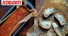 Vaivaamatta valmis helppo leipä tai sämpylä Happy Foods, Bread Recipes, Camembert Cheese, Baking, Bae, Bakken, Bread, Backen