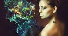Fashion Photo Manipulation with Abstract Smoke and Light Effects
