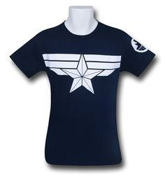 Captain America Winter Soldier Navy T-Shirt - Based on the movie. Another version is available that is the Marvel Comics look.