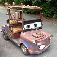 Awesome Tow Mater Golf Cart!