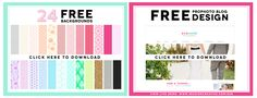 FREEBIES! 24 Free Background Pattern and free ProPhoto Blog Design. Sign up for the Seaside Creative Newsletter to get the password to download :)