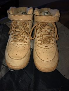 check out 73f5d 7f3cd Nike Air Force 1 Mid - Boys Basketball Shoes Wheat Gum size 3  fashion