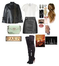 """""""Night Club In Paris With Friends"""" by valensmilerstyle ❤ liked on Polyvore featuring Topshop, Neil Barrett, Christian Louboutin, Valentino, Karl Lagerfeld, Givenchy, DYLANLEX, Effy Jewelry, Cartier and Rolex"""