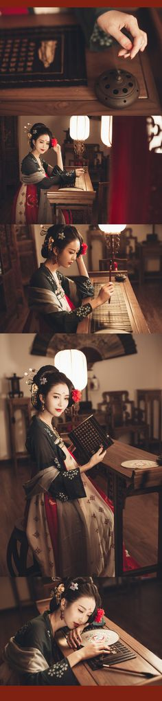 Chinese hanfu fashion photography posted by Lofter user Kishun.  This is part of a larger photoset, so click through for more!