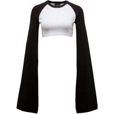 Fenty Puma By Rihanna Cropped Rib-Knit Kimono Top (235 RON) ❤ liked on Polyvore featuring tops, shirts, sweaters, puma white, women's apparel tops, long white top, ribbed knit crop top, white top, white crop top and kimono sleeve top