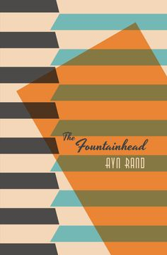 The Fountainhead - Book Cover Design by Colleen Sheridan, via Behance