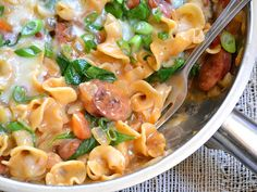 One Pot Creamy Spinach and Sausage Pasta. #food