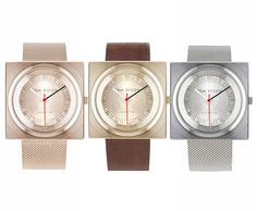 New Block Watches From Tom Dixons Eclectic Collection.
