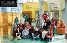 Photo shoot and magazine spread design for 2012 Ursinus College seniors -- Could use this in lots of ways!