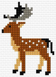 Deer x stitch 10 free patterns online crochet drawstring bags free patterns crochet bags and totes crochet crochetideas crochetpatterns Xmas Cross Stitch, Cross Stitch Christmas Ornaments, Cross Stitch Cards, Simple Cross Stitch, Cross Stitch Animals, Cross Stitching, Cross Stitch Embroidery, Beaded Cross Stitch, Christmas Cross Stitch Patterns