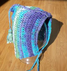Children's / Toddler Hat  Bonnet style by LindaHansonDesigns