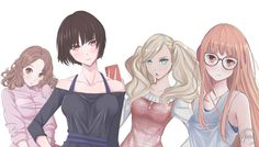 persona 5 Girls they looked so beautiful