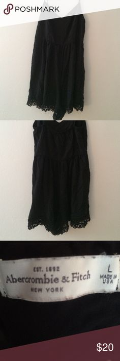 Black Abercrombie & Fitch Romper Black Abercrombie & Fitch Romper - never worn - simple style and cut - women's large Abercrombie & Fitch Dresses