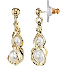 1928 Simulated Pearl Twist Drop Earrings ($18) ❤ liked on Polyvore featuring jewelry, earrings, white, faux pearl drop earrings, fake pearl earrings, fake pearl jewelry, earring jewelry and twist jewelry
