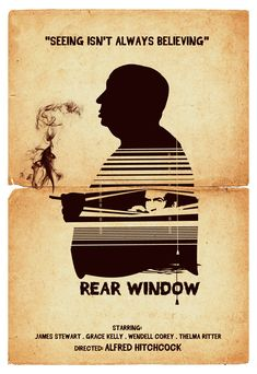 Alternative Rear window movie poster art print alfred hitchcock classic vintage…