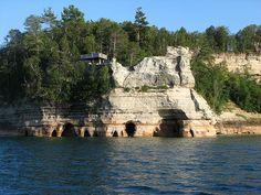 The Caves below Miners castle by Matthew Bunker