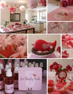 cute red and pink theme...and those birds again, lol.