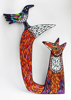 Amanda's mosaic menagerie of birds and other creatures are hand made using…