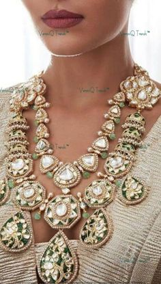 Indian Jewelry Sets, Indian Wedding Jewelry, Bridal Jewelry, Fancy Jewellery, Diamond Jewellery, Jewelry Design Earrings, Necklace Designs, Polki Sets, Jewellery Sketches