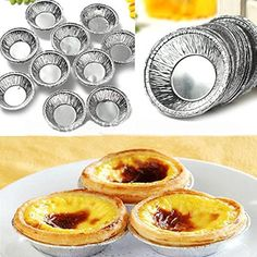 125Pcs Disposable Round Silver Foil Baking Cookie Cups Cake Tart Mold ** Check out this great product.