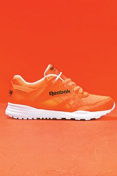 When it doubt, go bold with your sneaker fashion. A neon orange pop of color can brighten up your summer wardrobe. Dancing Shoes, Workout Style, Orange Is The New, Summer Wardrobe, Fitness Fashion, Fit And Flare, Sneakers Fashion, Reebok, Color Pop