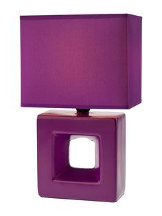 MIKOS Redo - stolová lampa - fialová keramika+textil - 280mm