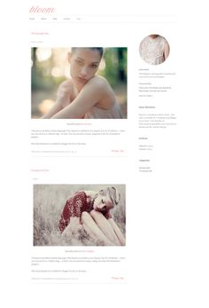Bloom - Responsive Wordpress Theme - Instant Download - Website and Blog template