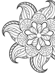 24 More Free Printable Adult Coloring Pages Flower colors Adult