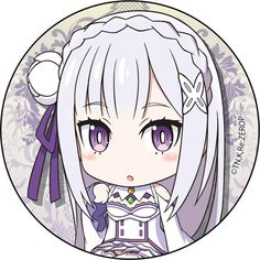 ,Re:Zero Can Badge Emilia,Collectible listed at CDJapan! Get it delivered safely by SAL, EMS, FedEx and save with CDJapan Rewards! Anime Girl Neko, Chibi Girl, Anime Art Girl, Anime Chibi, Kawaii Anime, Skyrim, Ram And Rem, Re Zero Rem, Otaku Issues