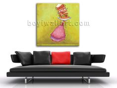 Elegant designed 1-panel canvas print on artist canvas with fairy in modern style. It is available in numerous sizes to fit any size room!
