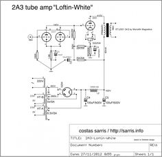 The 'Loftin-White' circuit, a 2A3 Single ended, direct coupled amplifier, no capacitor or coupling transformer between driver and power stages.'Applying this method the final result is amazing. The amplifier reveals an amazing sound stage with warm sound and enjoyable harmonics.'