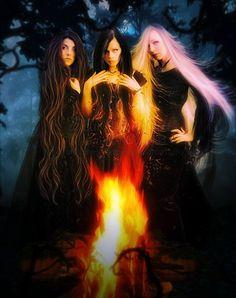 I wish I had witch sisters. [=\]