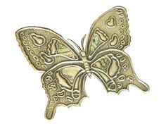 Pewter Butterfly Embellishment for Book Cover/ Scrapbook by Loutul