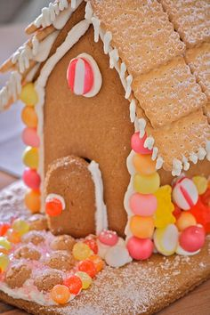 gingerbread house we did these with wez  :)