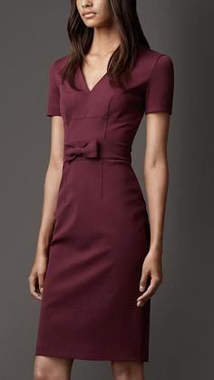 Love this color!!!  Burberry London Bow Detail Dress