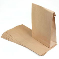 c994175b187 10 Brown  Block Bottom  Paper Bags Size  30 x 15 x for - inc P