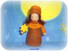 Sternzeichen Löwe  Jahreszeitentisch  von Susannelfes Blumenkinder  auf DaWanda.com