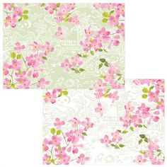 Caspari Blossoming Branches Thank You Notes, Box of 8 for sale online