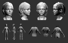 The Last of Us - Character Sculpts by Michael Knowland (Lead Character Artist @Shawn O Davis Dog)
