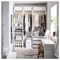 Ideas walk in closet organization ideas ikea pax wardrobe Cupboard Wardrobe, Pax Wardrobe, Wardrobe Storage, Bedroom Wardrobe, White Wardrobe, Ikea Walk In Wardrobe, Wardrobe Ideas, Corner Wardrobe, Clothes Storage