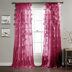 Lush Decor Riley Window Curtain Panel   Overstock Shopping   Great Deals On  Lush Decor Curtains