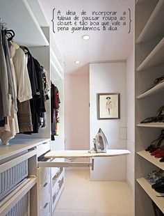 Walk In Closet Ideas - Trying to find some fresh ideas to redesign your closet? Visit our gallery of leading deluxe walk in closet design ideas and also images. Walk In Closet Design, Closet Designs, Small Walk In Wardrobe, Walking Wardrobe Ideas, Small Walking Closet, Small Built In Wardrobe Ideas, Wardrobe Behind Bed, Small Walk In Closet Ideas, Closet Ideas For Small Spaces Bedroom