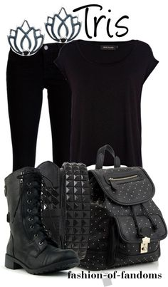 Finally, a Dauntless Tris-inspired outfit! I've been looking for one!