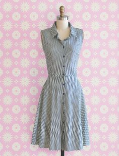 The Zig-Zag Shirtdress is a classic!   Learn how to make this dress, and design your own, in the new book Sew Many Dresses, Sew Little Time!