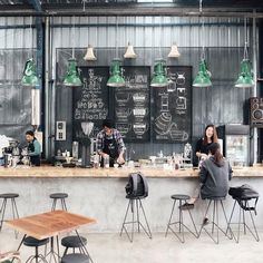 Coffee Shops, Coffee Shop Bar, Interior Design Coffee Shop, Coffee Cafe Interior, Coffee Bar Design, Small Cafe Design, Small Restaurant Design, Cafe Bar, Cafe Bistro
