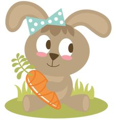Easter Bunny Holding Carrot SVG files easter svg file bunny svg file free svgs easter svg cuts