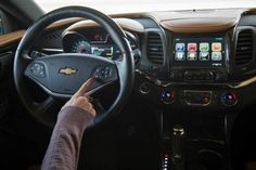 General Motors reformulated its Chevrolet Impala MyLink system with Siri, a cleaner interface, larger buttons and more personalization.