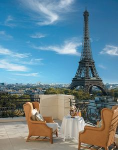 The view from the terrace of La Suite Chaillot at the Shangri-La Paris hotel..
