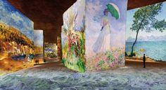 Carrières de Lumière, Les Baux de Provence. projections à l'intérieur d'une ancienne carrière de calcaire.