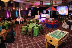 Sports themed Bar Mitz Vah | Room Decor and Lighting